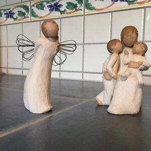2 willlow tree figurines