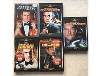 5 Classic James Bond DVD's