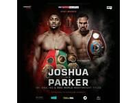 Anthony Joshua v Parker Tickets