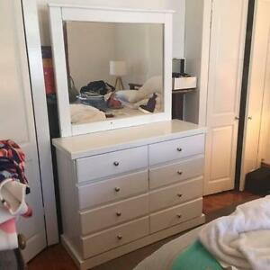 White Chest of Drawers with Large Mirror Thornbury Darebin Area Preview