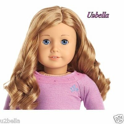 NEW AMERICAN GIRL TRULY ME Doll Light Skin,Curly Light Red Hair,BLUE EYES 33 NOX