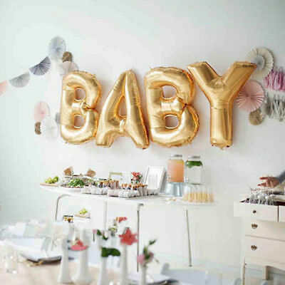 Gold Silver Baby Letters Kit Foil Super Balloon - Baby Shower Decoration Baloons