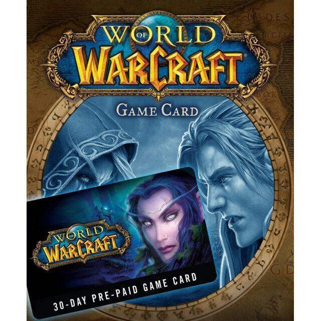 World of Warcraft 30 Day Game Time Card - Americas & Oceania - 1 Month WoW US