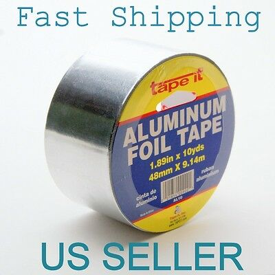 1 Roll 10 Yards 9 Meters Aluminum Foil Tape 1.89 Wide 48mm Emi Heat Shield