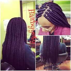 Afro European Asian hairdresser