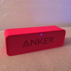 Haut-parleur Bluetooth SoundCore d'Anker Rouge in box comm NEUF!