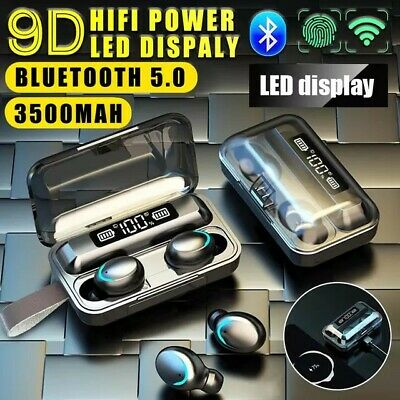 BEST QUALITY True Wireless Bluetooth Earbuds Headphones In-Ear Headset with Case