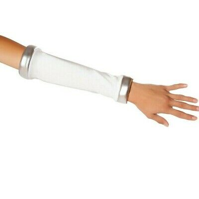 Space Commander Gloves Arm Sleeves Futuristic Silver Astronaut Costume 10077GL - Space Commander