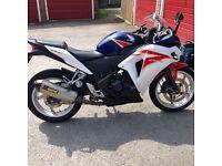 Honda CBR250RA 250cc Motorbike 2012 - with Akrapovic exhaust