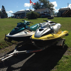 2 seadoos and double trailer package for sale