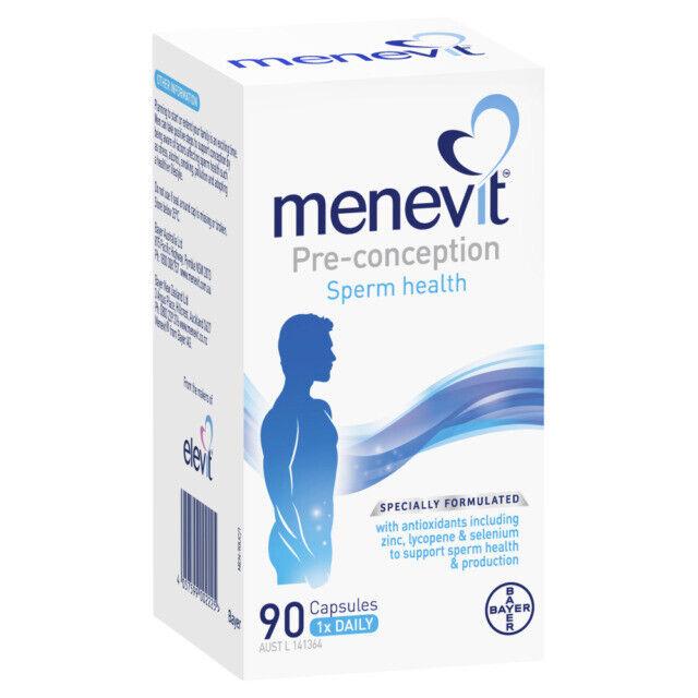 NEW Menevit 90 Capsules Male Fertility Supplement Pre-Conception Sperm Health