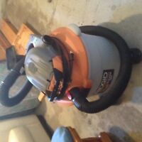 Rigid Shop Vaccuum and blower with attachments