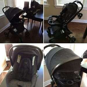 Safety First Stroller, Bucket seat & 2 car bases