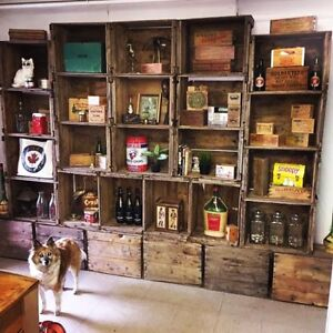 Shelving with Crates Bookcase DIY your storage