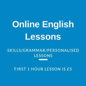 Online English Lessons via Zoom. First lesson for £5!