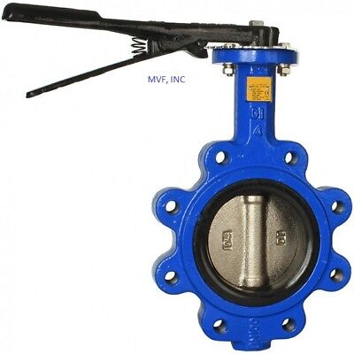 Butterfly Valve 3 Lug Style 200 Wog Ductile Body Bronze Disc Buna Seat 463wh