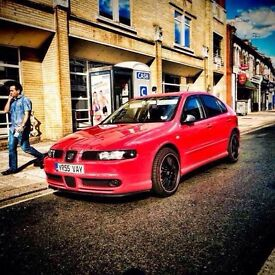 Seat Leon fr Cupra 55 reg/red/126,000 miles/2 owners/stage1/big Porsche brakes/ sits wide/full spec