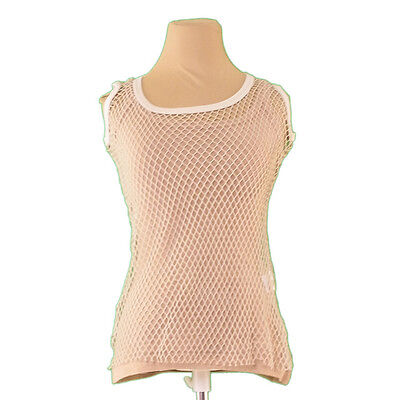 Auth DOLCE&GABBANA tank top mesh used L1924