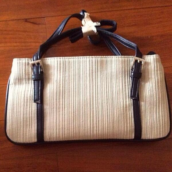 Brand New Pleated Cream Shoulder Bag