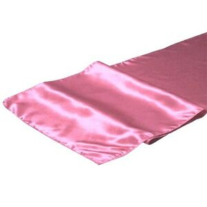 Set of 10 Shining Satin Quality Wedding Party Table Runners Chair Sashes PINKS
