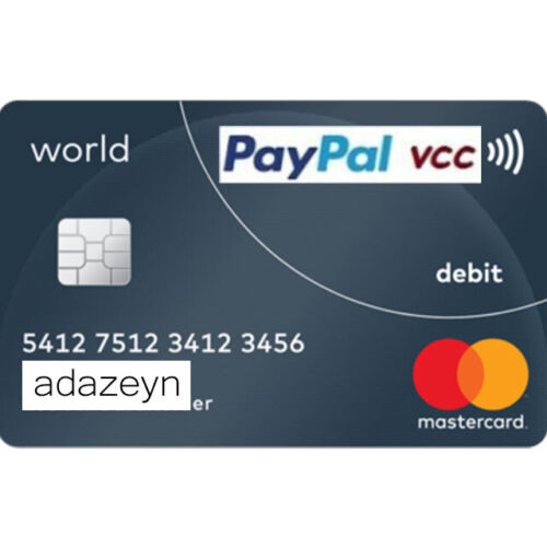 VCC Virtual Credit Card For PayPal Verification Work Worldwide FAST DELİVERY
