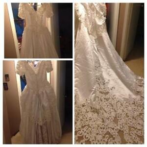 Size 8 wedding dress, has been cleaned and preserved.