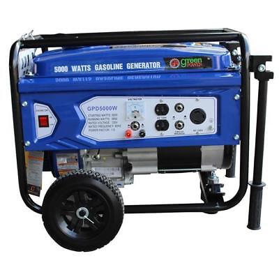 Green-Power America 5000W Portable Gas Powered Generator GPD5000W