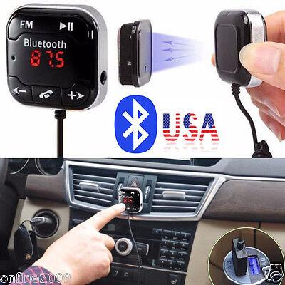 Car Kit Wireless Bluetooth FM Transmitter Handsfree MP3 Player USB LCD Remote US