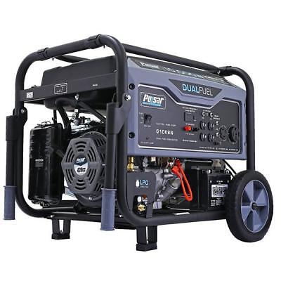 Pulsar 10000 Watt Portable Dual Fuel Propane/Gas Generator Electric Start G10KBN