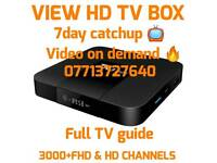 VIEW HD TV BOX , 3000+ HD CHANNELS, TV GUIDE , 7DAY CATCHUP TV & VIDEO ON DEMAND