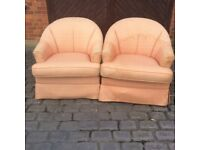 2 armchairs with loose covers, free if picked up.
