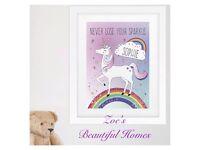 Personalised Unicorn Picture