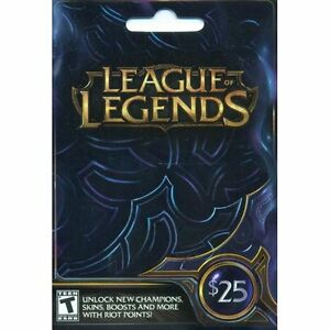 $25 League of legends giftcard