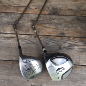 Practise golf swing with Medicus dual hinged clubs