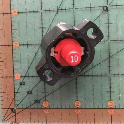 Klixon Aircraft Circuit Breaker Cm-10 Texas Instruments Sensata 10 Amp Open 10a
