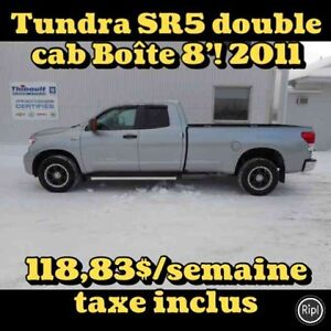 2011 TOYOTA TUNDRA 4X4 DOUBLE CAB SR5 5.7 LITRES BOÎTE 8'