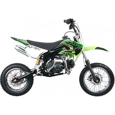 Free Shipping Coolster 214FC New 125cc KLX STYLE Dirt Bike GREEN ()