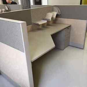 WORKSTATIONS $565, CUBICLES $665, LATE MODEL TEKNION, USED