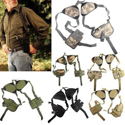 Tactical Double Gun Shoulder Holster Adjustable Horizontal Pistol Holster Pouch Shoulder Pistol Holsters