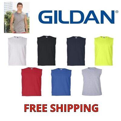 GILDAN MENS TANK TOP 2700 ULTRA COTTON MUSCLE SLEEVELESS TEE T-SHIRT S-XXL NEW Gildan Ultra Cotton Tank Top