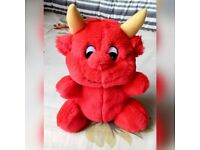 "Brand New Without Tags ""DEVIL"" by Plusch Grub / Plush Soft Toy Red Valentines Gifts Birthday Party"