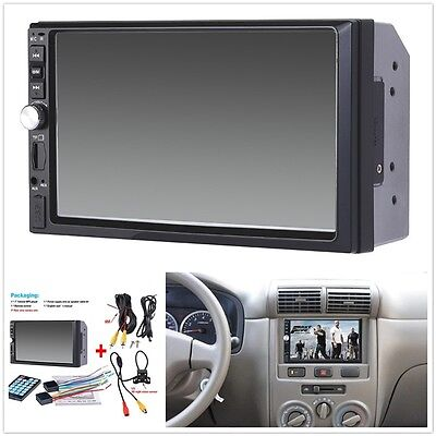 1X 7Inch 2Din Car Mp5 Player Bluetooth Touch Screen Stereo Radio Hd Rear Camera