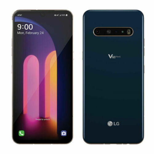 Brand New LG V60 ThinQ 5G LM-V600AM 128GB Blue GSM AT&T GSM Unlocked Smartphone