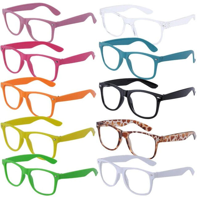 Brille NERD Fashion Glasses modische Brille ohne Sehstärke