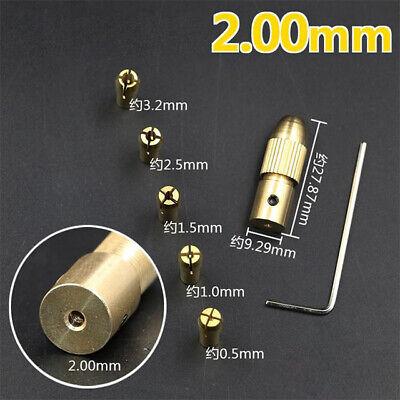 2mm Small Electric Drill Bit Micro Twist Drill Chuck Fixing Device Clamp 1set