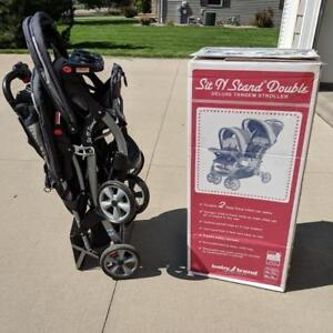 3 in 1 sit stand stroller