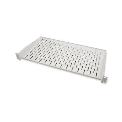 """19"""" 1HE Fachboden Ablage Einlage Boden Netzwerkschrank 250 x 445 mm 10kg Grau"""