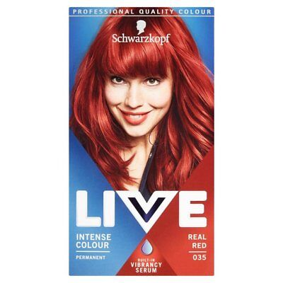 6x Schwarzkopf Live Intense Colour  035 REAL RED Permanent