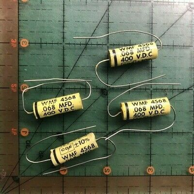 Cornell Dubilier Film Axial Capacitor .068uf 400v Wmf4s68 10 Audio 68nf 10pcs