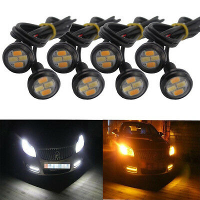 10X 23mm 5730-SMD Dual Color White Amber Eagle Eye LED DRL Turn Lights Car motor for sale  Shipping to Canada